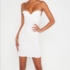 COPY - White Winged Bandeau Bodycon Dress